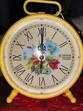 Pioneer Woman Floral Table Clock