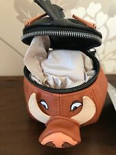 Disney Store Exclusive Pumba Pig Large Zipped Purse Faux Leather Lion King