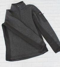 Avalanche Outdoor Base Layer Quarter Zip Sweater Sweatshirt in Gray Sz S Skiing