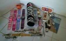 Lot of 29 WORKING watches Men Women Ladies Kids NOS