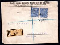 Austria Commercial Registered Postal History cover WS7021