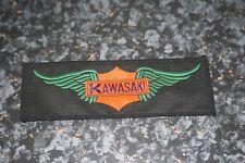 Vintage Kawasaki  'Wings' Sew on Woven Bike Biker Patch