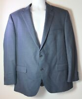 Peter Millar Men's 44R Wool Blue Black Checkered Sports Coat Suit Jacket
