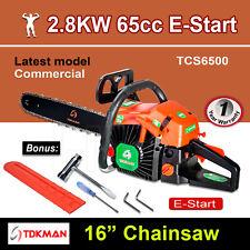 "New TDKMAN 65CC Petrol Chainsaw Chain Saw 16"" Inch Bar Tree Log Pruning Pruner"