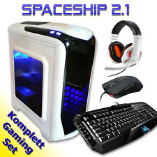 COMPLETO Gaming Juego Teclado de ordenador, Ratón, Auriculares PC CALCULADORA