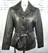 Wilsons Maxima Womens Leather Jacket Fitted Black Size S Thinsulate Insulation