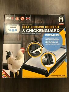ChickenGuard Automatic Chicken Coop Door Opener ASTi Premium & Door Kit Set