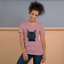 """Original artwork """"Puma"""" black cat t-shirt"""