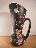 Céramique Vintage 50 Important Vase émaillé Décor Fleurs Signé GIRAUD VALLAURIS