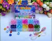 Set Lot 160pcs Mix Color Shining Crystal Pearl Jewelry Beads Set Kids Crafts DIY