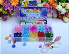 Set Lot 160pcs Mix Color Shining Crystal Pearl Jewelry Beads Set Kids Crafts DIY