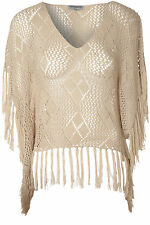 Ponchos Scoop Neck None Jumpers & Cardigans for Women