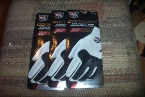 3 BRAND NEW Wilson Conform  Mens LH  extra extra large  XXL Gloves White