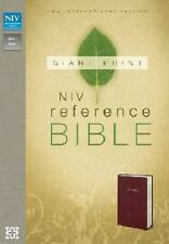 NIV Reference Bible Burgundy Leather-look custom imprinted name engraved in gold
