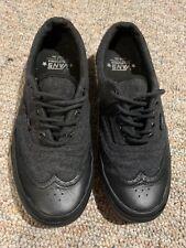 Vans Era California Wingtip TB8C Grey Wool/Black Leather, Men's 8 / Women's 9.5