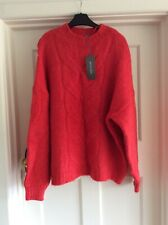 Principles Debenhams Red Cable Soft Knit Jumper Sz 18 Bnwot £39
