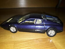 Ferrari 512 BB voiture miniature 1/24 rare burago DIECAST modellauto car bleu tv