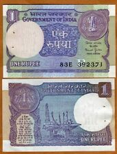 India,  1 Rupee, 1990, P-78Ae, UNC > W/H, Oil Rigs