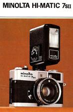 MINOLTA HI-MATIC 7SII 35mm CAMERA BROCHURE -MINOLTA
