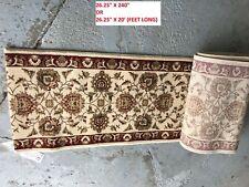"Timeless Abbasi Ivory Traditional rug carpet stair runner hallway 26"" x 240"" 20'"
