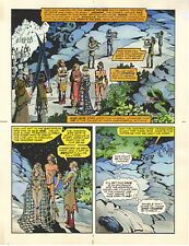ELFQUEST hand colored art page Donning-Starblaze Book 3 pg 7 UNIQUE signed