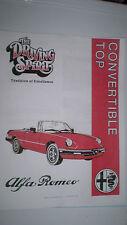 Alfa Romeo Spider Convertible Top Manual - Pdf Version