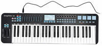 Samson Graphite 49 Key USB MIDI DJ Keyboard Controller w/ Aftertouch/Fader/Pads