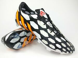 Adidas Mens Rare Predator lz FG world cup M19888 White Black Cleats Size 12