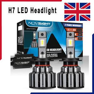 2x NOVSIGHT H7 LED Headlight Bulbs Kit Canbus Error Free 15000LM 6000K UK Stock