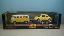 "New 1:25 Maisto Show Hauler Series Yellow Volkswagen New Beetlel & Van ""Samba"""
