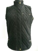 Alice Collins Black needle cord Gilet  Size UK 14 Vest Quilted Body Warmer