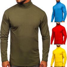Pullover Sweatshirt Rollkragen Langarmshirt Pulli Classic Men Herren BOLF Basic