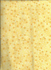 New Yellow Mini Stars 100% Cotton Flannel Fabric by the Yard