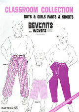 PANTS & SHORTS for GIRLS & BOYS, STRETCH FAB ~ SIZES 2 to 12 YEARS