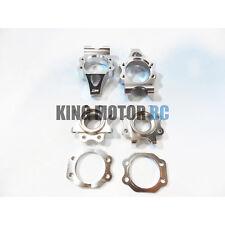 King Motor 3.0 Silver EX Aluminum Rear Hub Kit Fits HPI Baja 5B 5T 2.0 Rovan