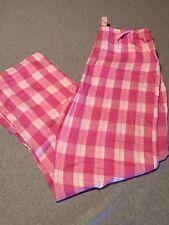 Womens Pink Plaid Lounge Pants Pajama Sleep Size Small