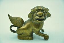 Statue de lion ailé de Fô ou Shi bronze ou laiton collection art Chine Asie