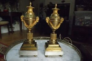 French Gild Bronze Urns