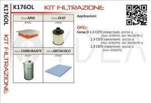 Set 4 Filter Opel Corsa D [1.3 CDTI ] (2010-2014) (Rahmen 96129270>)