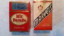 Unopened cigarette packs- Hit Parade and Marvels