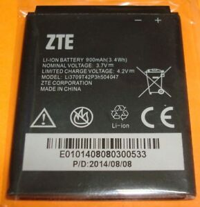 OEM ZTE  Li3709T42P3h504047 900mAh Replacement Battery  for ZTE T7 T2 U712 X990