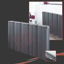 "936mm(w) x 600mm(h) ""Wave"" Anthracite Horizontal Aluminium Radiator - 4780 BTUs"