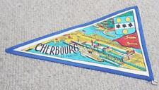 Cherbourg - Normandy - Vintage 1950's Pennant Flag - Bunting