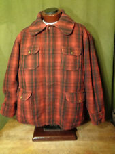 VTG  Woolrich Men's Red Plaid Mackinaw Cruiser Wool Hunting Coat Jacket XL-XXL?