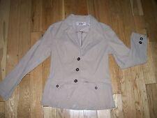 Womens Levi Strauss Signature Stretch corduroy Jacket Blazer Beige Khaki S