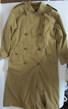 Vintage Retro Ella Double Breasted Womens Brown Trench Coat XL Size 46 Strap