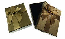 12 NEW Wholesale Gift Boxes with Ribbon Bow for Earring Necklace Set - 7x9x3cm