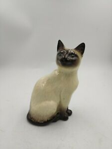 Royal Doulton SIAMESE Sitting Cat Figurine #1887 Crown England Kitten