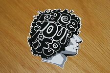 Marco Simoncelli Face Sticker - Black/White
