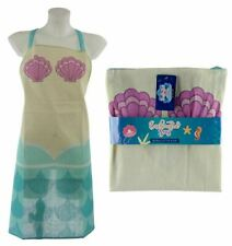 NOVELTY ENCHANTED SEAS MERMAID DESIGN KITCHEN CHEF APRON NEW WITH TAGS